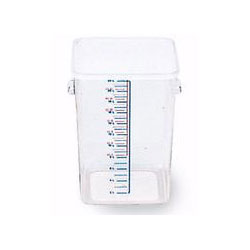 Rubbermaid Clear Square Carb X Space Saving Containers; 11 5/16 X 10 1/2