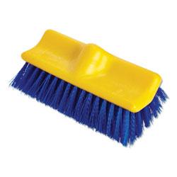Rubbermaid Bi-Level Deck Scrub Brush, Polypropylene Fibers, 10 Plastic Block, Tapered Hole