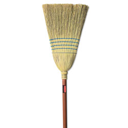 Rubbermaid Warehouse Corn-Fill Broom, 38-in Handle, Blue