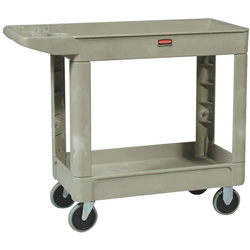 "Rubbermaid Beige 16"" x 30"" Utility Cart 400 Lb Max Capacity"