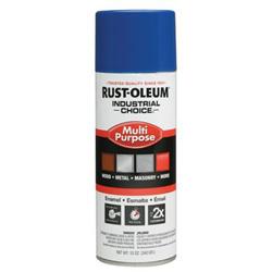 Rust-Oleum Industrial Choice 1600 System Enamel Paint, 12 oz, Safety Blue