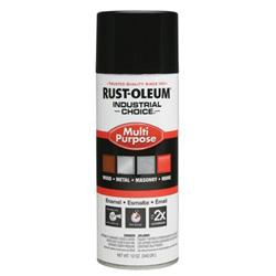 Rust-Oleum Industrial Choice 1600 System Enamel Paint, 12 oz, Glossy Black