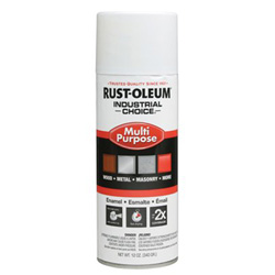 Rust-Oleum Industrial Choice 1600 System Enamel Paint, 12 oz, Glossy White