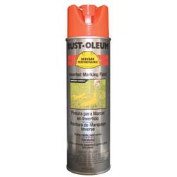 Rust-Oleum High Performance V2300 System Inverted Marking Paint, 15 oz, Fluorescent Red/Orange