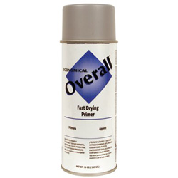 Rust-Oleum Overall Economical Fast Drying Enamel Paint, 10 oz, Sandable Gray Primer