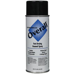 Rust-Oleum Overall Economical Fast Drying Enamel Paint, 10 oz, Gloss Black