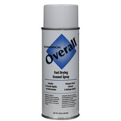 Rust-Oleum Overall Economical Fast Drying Enamel Paint, 10 oz, Gloss White