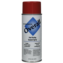 Rust-Oleum Overall Economical Fast Drying Enamel Paint, 10 oz, Gloss Red