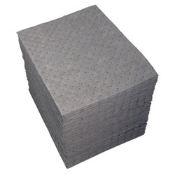 "Spc 15"" x 19"" Gray Dimpled Universal Sorbent Pad"