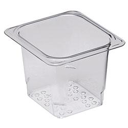 Cambro Food Pan Colander 1/6 X 5 in Camwear® Clear