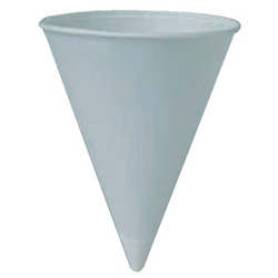 Solo Paper Cone Water Cups, 4 oz , White