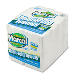"Marcal 6729 White Bulk Multifold Paper Towels, 9.4"" x 9.5"""