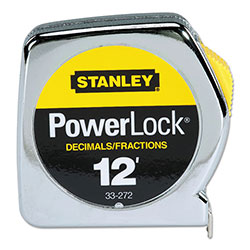 Stanley Bostitch Powerlock® Tape Rules 1/2 in Wide Blade, 1/2 in x 12 ft, Inch/Decimal