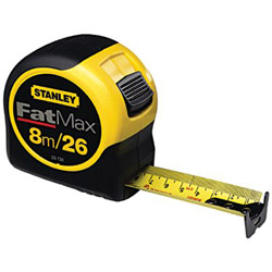 Stanley Bostitch FatMax Blade Armor Reinforced Tape Measure, 1 1/4in x 25ft