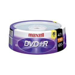 Maxell DVD+R X 15 - 4.7 GB - Storage Media
