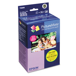 Epson Print Pack T5846 - Print Cartridge / Paper Kit - 1 x Color (cyan, Magenta, Yellow, Black) - 150 Pages