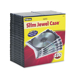 Fellowes NEATO - Storage CD Slim Jewel Case - Capacity: 1 CD, 1 DVD (pack Of 100)