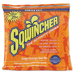 Sqwincher Powder Drink Mix, Orange, Yields 2 1/2 Gallons, Case of 32