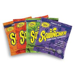 Sqwincher Powder Drink Mix, Raspberry, Yields 2-1/2 Gallons, Case of 32