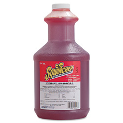Sqwincher Liquid Concentrate, Fruit Punch, Yields 5 Gallons, Case of 6