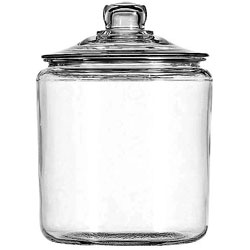Anchor Hocking Heritage Hill Glass Jar With Lid, 1 Gallon, Clear, Glass Lid