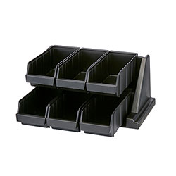 Cambro Organizer Versa Pack 6 Bin Black