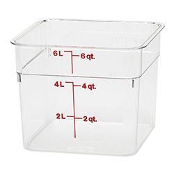Cambro Camwear® Square 6 Quart Clear