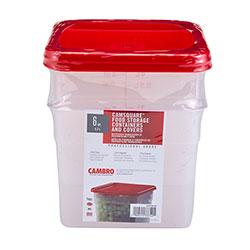 Cambro Multi Pack 6 Quart Translucent Square (2 Pack)