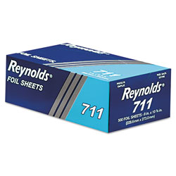 Reynolds Pop-Up Interfolded Aluminum Foil Sheets, 9 x 10 3/4, Silver, 500/Box