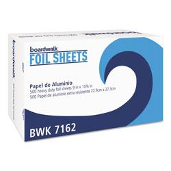 Boardwalk Standard Aluminum Foil Pop-Up Sheets, 9 in x 10 3/4 in, 500/Box, 6 Boxes/Carton