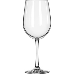 Libbey Vina Fine Glass Stemware, Tall Wine, 18.5oz, 9 1/8 in Tall, 12/Carton