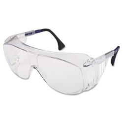 Uvex Safety Ultraspec 2001 OTG Safety Eyewear, Clear/Black Frame, Clear Lens