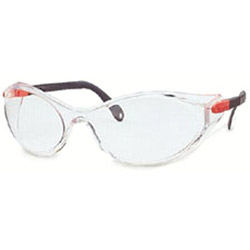 Uvex Safety Bandido Hot Red/black Frame Clear