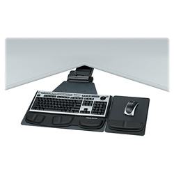 Fellowes Professional Series Executive Corner Keyboard Tray - keyboard/mouse tray