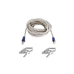Belkin High Speed Internet Modem Cable - Phone Cable - RJ-11 (M) - RJ-11 (M) - 15' - Double Shielded - Ice