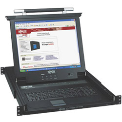 "Tripp Lite NetDirector Console KVM Switch w/17"" LCD - KVM Switch - 8 Ports - 1 Local User - 1U - Rack-mountable - Stackable"