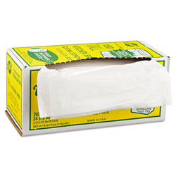 "Warp Brothers White Twist Tties Trash Bags, 13 Gallon, 1.25 Mil, 24"" X 30"", Box of 150"