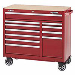 Waterloo 11-Drawer Cabinet, Red