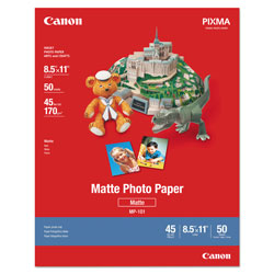Canon Photo Paper Plus, Matte, 8-1/2 x 11, 50 Sheets/Pack