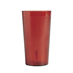 Cambro 8 Oz Plastic Tumblers, Red, Pack of 72