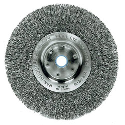 "Weiler 6"" Narrow Crimped Wire Wheel .014 5/8"" -1/2"" a."