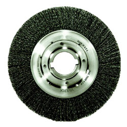 Weiler Trulock TLM-10 Narrow-Face Crimped Wire Wheel, 10 in dia, .014 Wire, Arbor Dia: 2 in