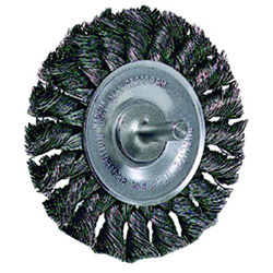 Weiler Dualife STM-3 Twist Knot Wire Wheel, 3 in dia, .02 Wire