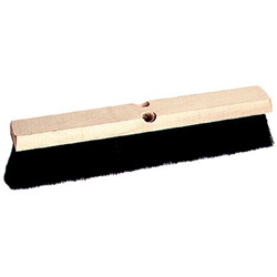 "Weiler 18"" Medium Sweep Floor Brush Black Tampico Fill"