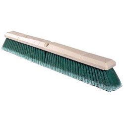 Weiler Green Polystyrene Fine-Grade Perma-Sweep Floor Brush, 24 in