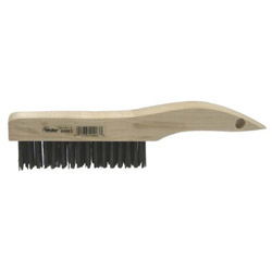 "Weiler Sh-46 Shoe Handle Scratch Brush .012 4"" x 16 R"
