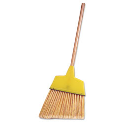 Weiler Angle Broom, Flagged Plastic Bristles, 7-1/2 in - 6 in Bristles, 54 in Length