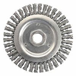Weiler Dually™ Stringer Bead Wheel, 4 1/2 in D x 3/16 W, .02 Carbon Steel, 12,500 rpm