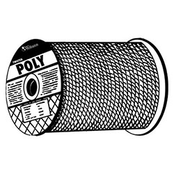 Orion Ropeworks Monofilament Twisted Poly Ropes, 2,168 lb Cap., 600 ft, Polypropylene, Yellow