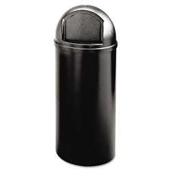 Rubbermaid Round Plastic Indoor Trash Can, 15 Gallon, Black